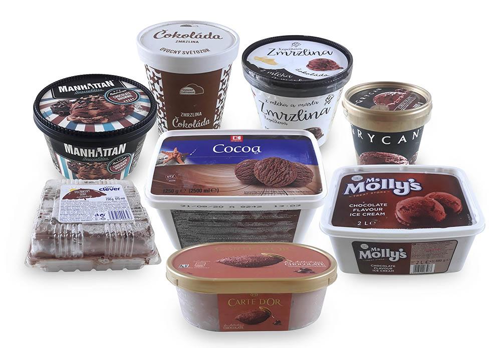 Test vaničkových zmrzlin III. díl - čokoládová